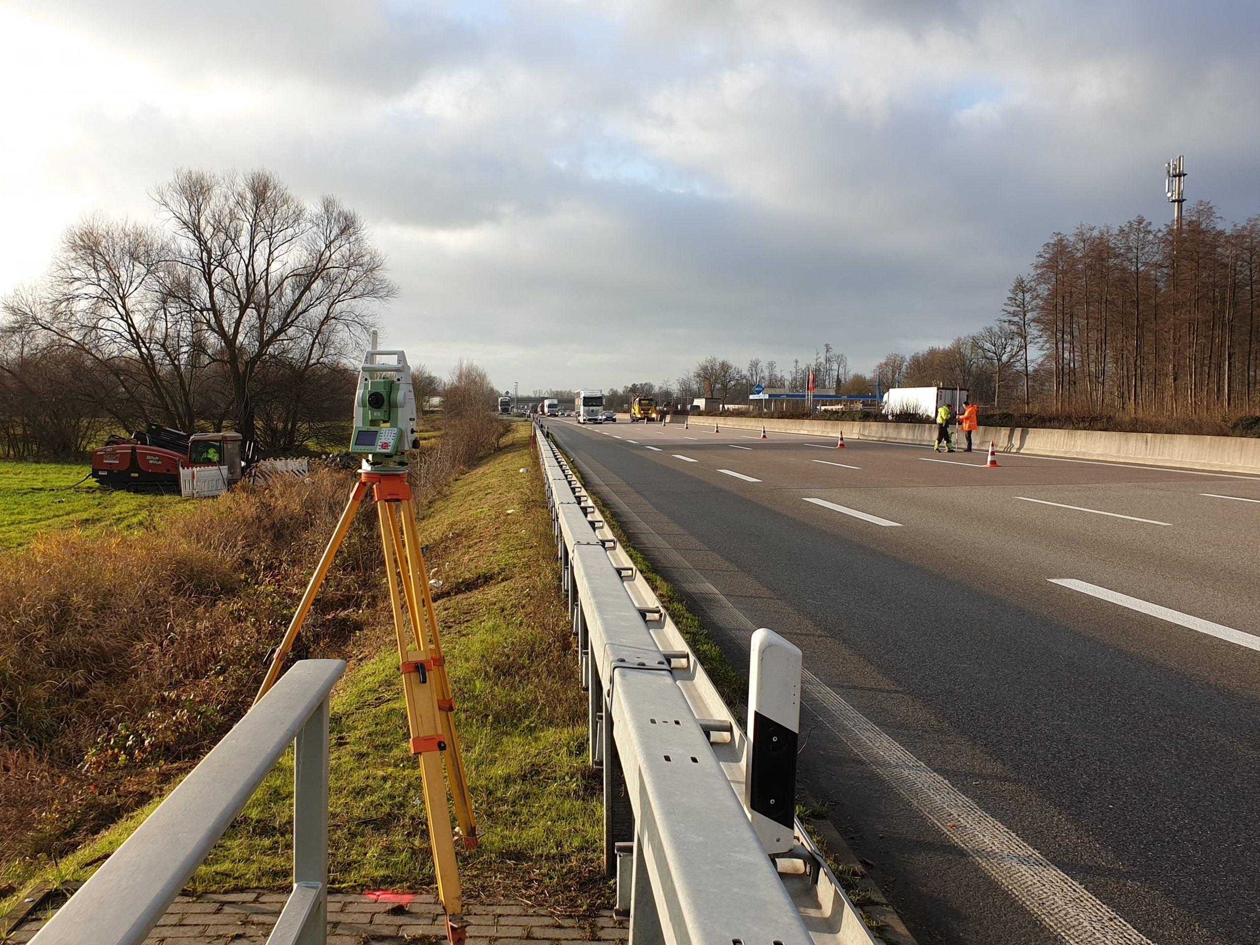 Breitbandausbau 5G an der Autobahn A5